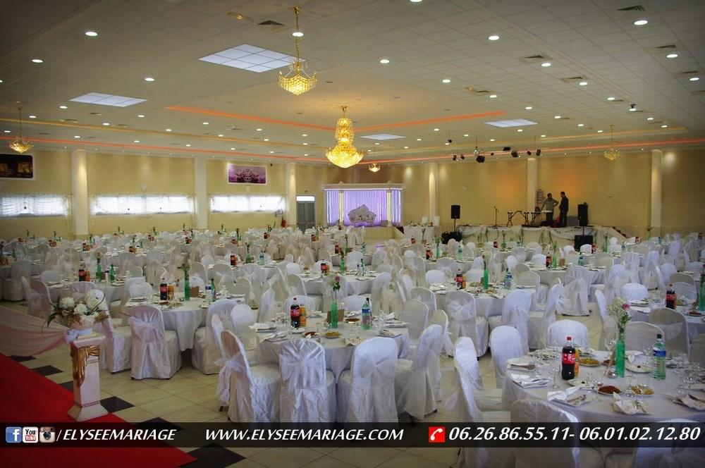 Decoration Salle De Mariage Blanc Et Dore : Salle elysée de mariage réception