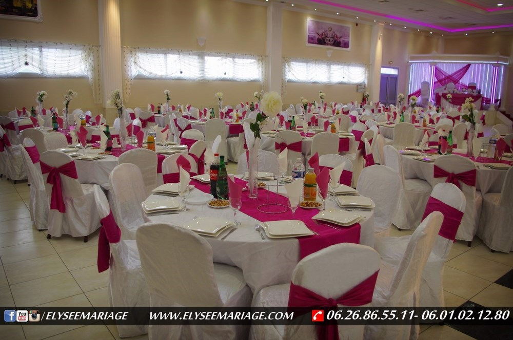 decoration salle mariage rose