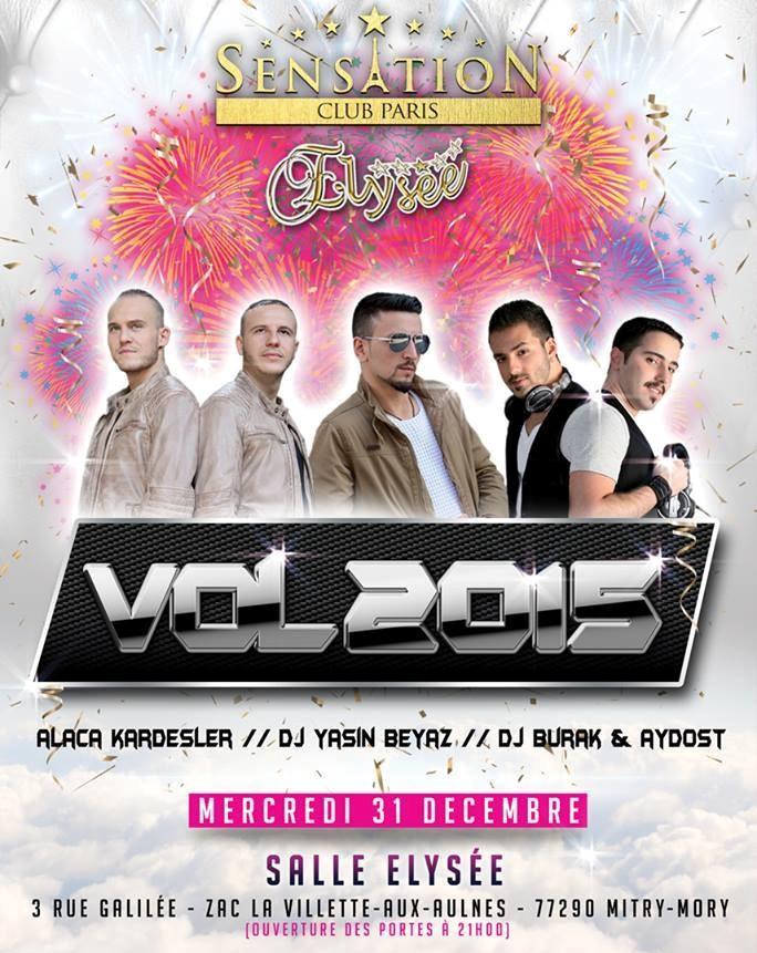 Jour de l'an 2015 avec Sensation Club Paris - 31 Décembre 2014