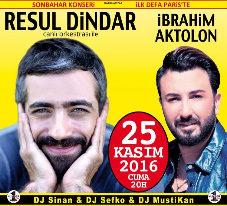 Concert de Resul Dindar & Ibrahim Aktolon - 25 Novembre 2016